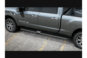 Running Boards LH KC w/o Lights - Chrome (Titan King Cab 6.5 Bed). Titan King Cab 6.5 Bed image for your Nissan